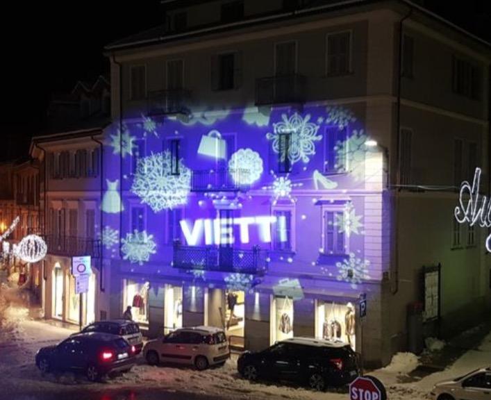 Alagna luci natalizie, proiezioni di natale, mappatura video, mappatura gobos